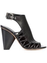 Derek Lam Lace Up Lateral Buckled Sandals Women Calf Leather Leather 39 Black