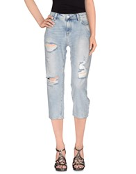 Silvian Heach Denim Denim Capris Women Blue