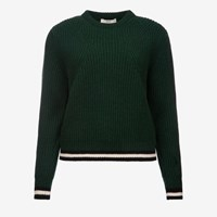 Bally Wool Crew Neck Sweater Green Ivy