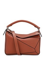 Loewe Small Puzzle Leather Top Handle Bag Tan