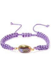 Dara Ettinger Cord Gold Plated And Stone Bracelet Lavender