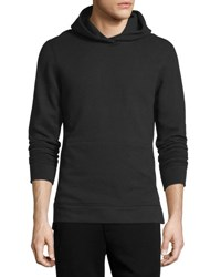 John Elliott Long Sleeve Cotton Hoodie Sweatshirt Black