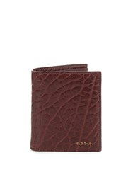 Paul Smith Grained Leather Bi Fold Wallet Red