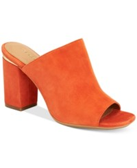 Calvin Klein Women's Cicelle Peep Toe Mules Women's Shoes Orange