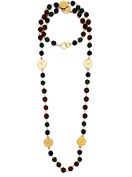 Chanel Vintage Gripoix Bead Sautoir Necklace Multicolour