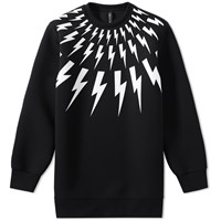 Neil Barrett Fair Isle Bolt Print Ski Sweat Black