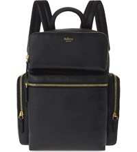 Mulberry Multi Pocket Leather Backpack Black