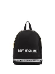 Love Moschino Logo Print Stripe Detail Backpack 60