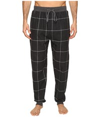 Kenneth Cole Reaction Banded Flannel Pants Dark Grey Heather Men's Pajama Gray