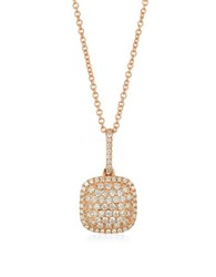Levian 14K Strawberry Gold Vanilla Diamond Pendant Necklace 0.34 Tcw Rose Gold