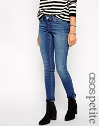 Asos Petite Whitby Low Rise Skinny Jeans In Boston Wash Bostonwash