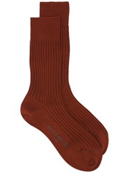 Givenchy Ribbed Classic Ankle Socks Brown