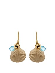 Rosantica By Michela Panero Mare Shell Earrings Yellow Gold