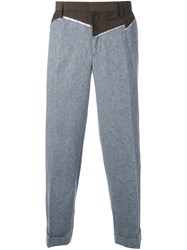 Kolor Patchwork Trousers Grey