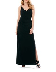 Laundry By Shelli Segal Sleeveless Ruched Gown Black