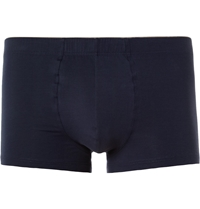 Hanro Cotton Blend Boxer Briefs Blue