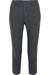 The Great Miner Cropped Twill Straight Leg Pants Anthracite