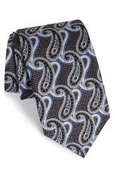 Men's J.Z. Richards Paisley Silk Tie Black