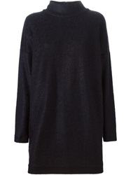 Odeeh Turtle Neck Sweater Dress Blue