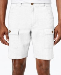Tasso Elba Linen Shorts Only At Macy's White Comb