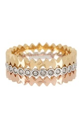 Ariella Collection Puzzle Stack Rings Multi