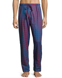 Neiman Marcus Check Flannel Pajama Pants Red