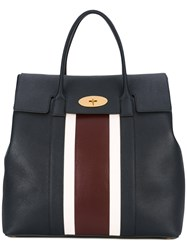 Mulberry Large Bayswater Tote Women Calf Leather One Size Blue