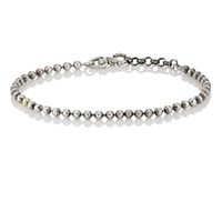 Title Of Work Ball Chain Bracelet Silver