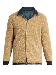 Simon Miller Asahi Reversible Faux Shearling Jacket Cream Multi