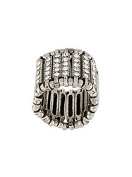Philippe Audibert Crystal Embellished Finger Ring Metallic