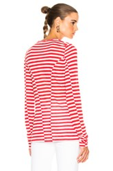 Rag And Bone Arrow Long Sleeve Tee In Red Stripes Red Stripes