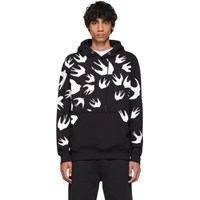 Mcq By Alexander Mcqueen Black Swallow Signature Hoodie