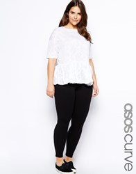 Asos Curve Premium Supersoft Legging In Cotton Modal Black