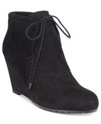 Easy Spirit Caterina Wedge Booties Women's Shoes Black Suede