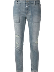 Closed Distressed Skinny Jeans Blue