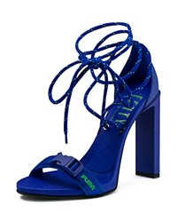 Fenty Puma By Rihanna X Bungee Cord High Heel Lace Up Sandals Dazzling Blue