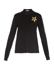 Bella Freud Lion Star Zip Up Cotton Knit Jacket