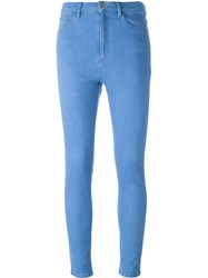 Each X Other Stitch Detail Skinny Jeans Blue