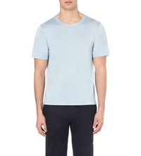 La Perla Regular Fit Silk Blend T Shirt Crystal