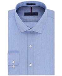 Tommy Hilfiger Slim Fit Non Iron Mist Stripe Dress Shirt
