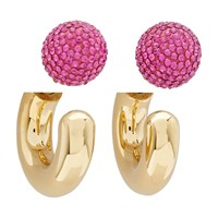 Marc Jacobs The Bubbly Small Hoop Earrings Gold