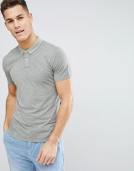Selected Homme Polo Shirt In Washed Cotton Green