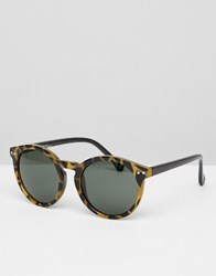 Jeepers Peepers Round Sunglasses In Tort Light Tort Brown
