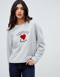 Tommy Hilfiger X Love Sweatshirt With Embroidery Grey