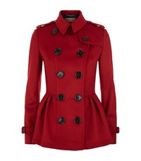 Burberry Wool Cashmere Trench Jacket Female Red