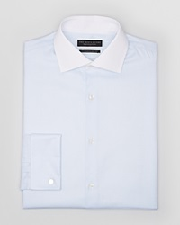 The Men's Store At Bloomingdale's Textured Solid Dress Shirt Regular Fit Light Blue