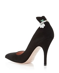 Kate Spade New York Logan Cat Pointed Pumps Black