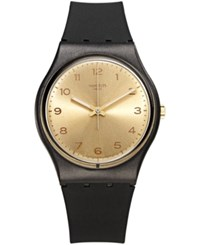 Swatch Unisex Swiss Exotic Charm Black And Beige Double Layer Silicone Strap Watch 34Mm Gb288