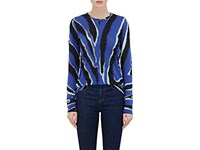 Proenza Schouler Women's Zebra Print Tissue Weight Cotton T Shirt No Color