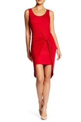 Vanity Room Knotted Knit Dress Petite Red